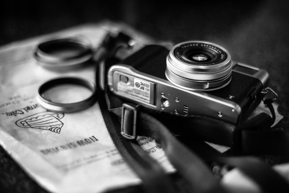 camera, photography, technology, black and white, creative