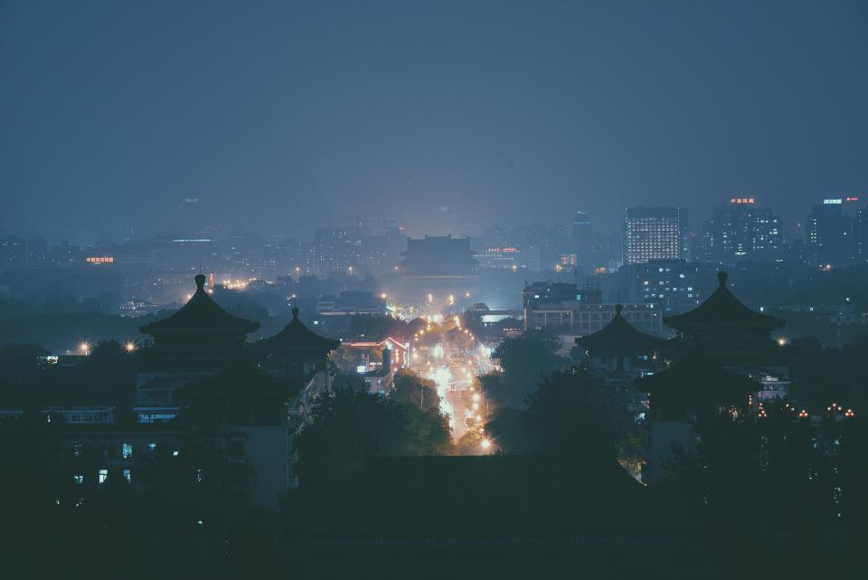 city, night, dark, evening, buildings, architecture, urban, lights, sky, cityskape