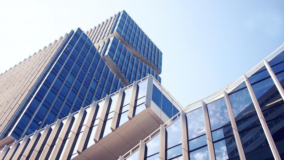buildings, architecture, windows, reflection, city, urban, sky, sunshine, business, office, corporate