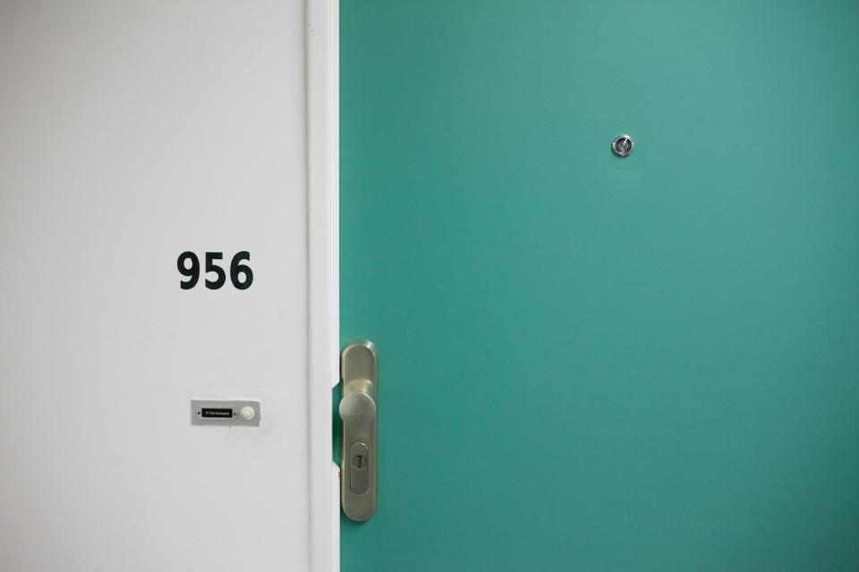 wall, door, lock, white, number, metal, steel, room