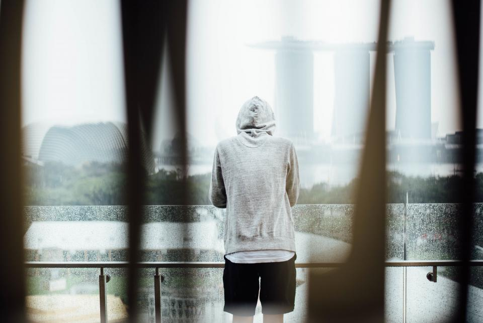 alone, hoodie, man, sad, thinking, people