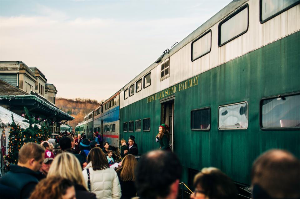 train, station, transportation, travel, railroad, railway, people, crowd