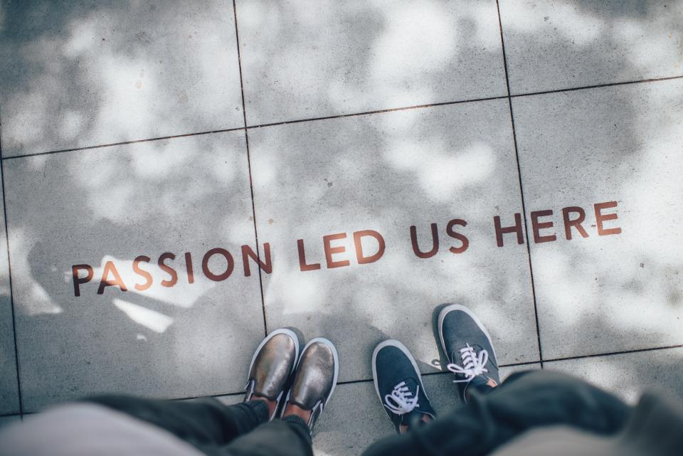 quotes, pavement, people, feet, legs, shoes, shadows, typography, passion