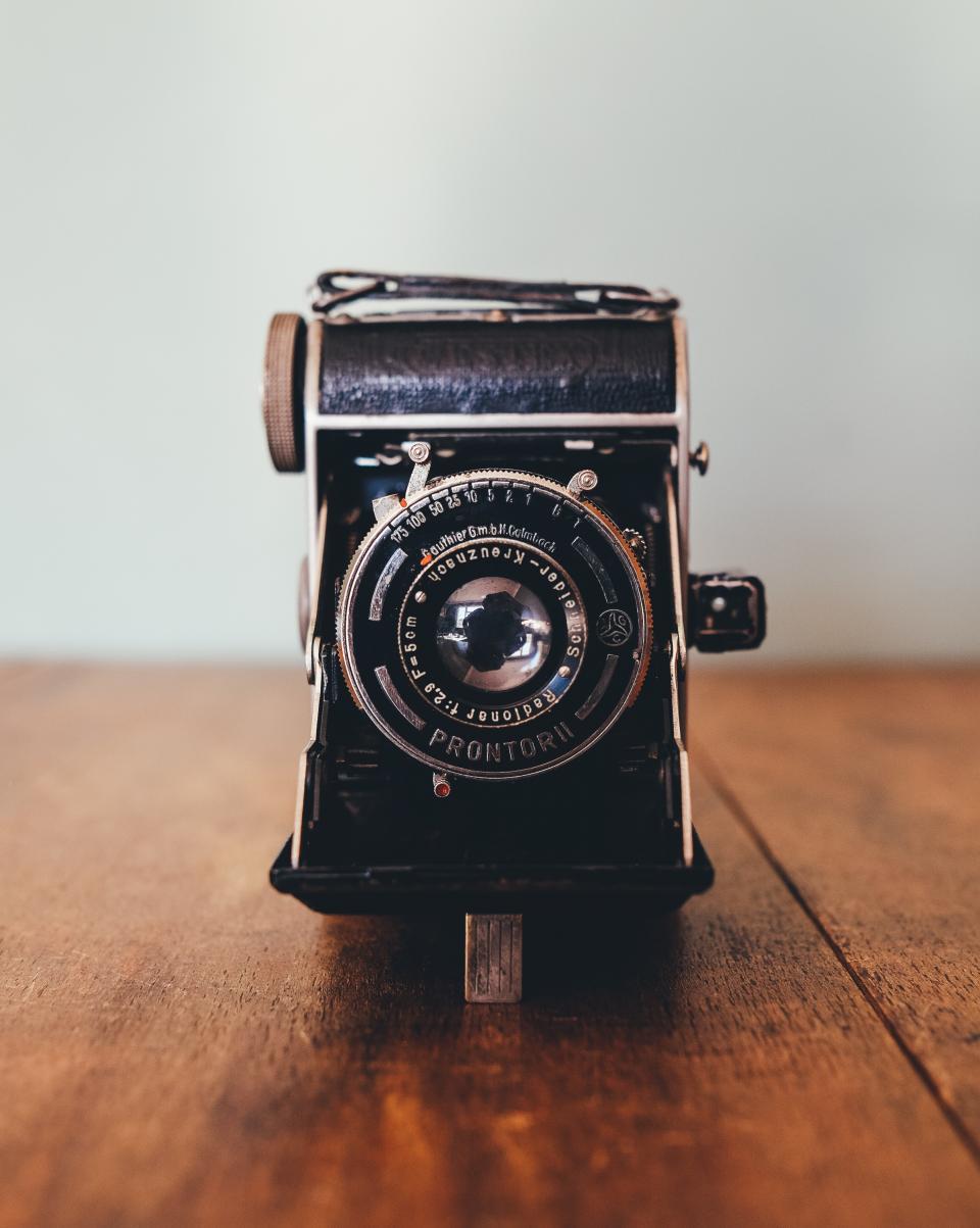 technology, camera, vintage, prontori, bokeh, still