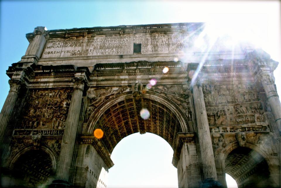 arch, architecture, sunshine, sun rays, history