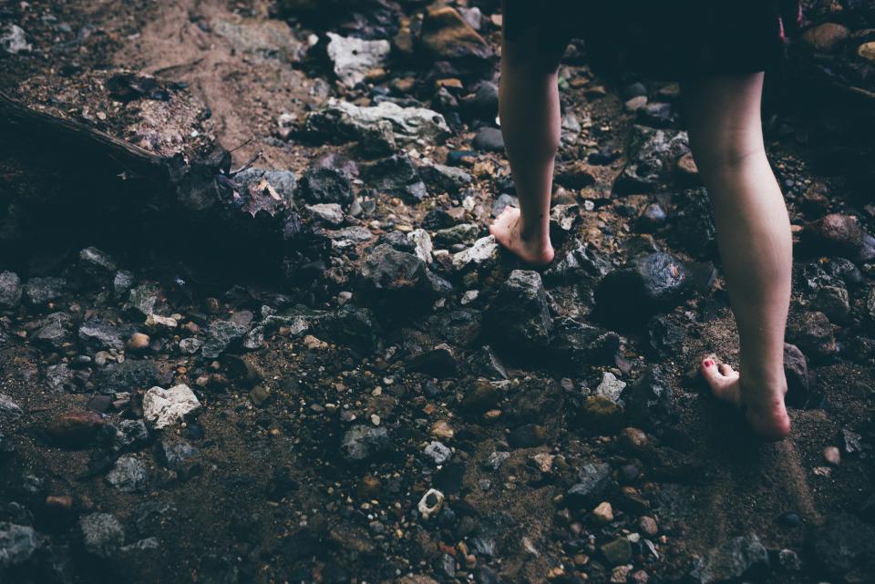walking, hiking, trekking, feet, rocks, ground, dirt, adventure, outdoors, nature