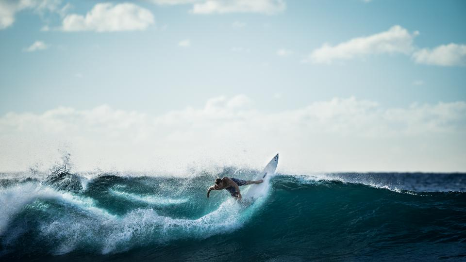 surfing, surfer, wave, ocean, sea, water, sports, fitness, sky, clouds