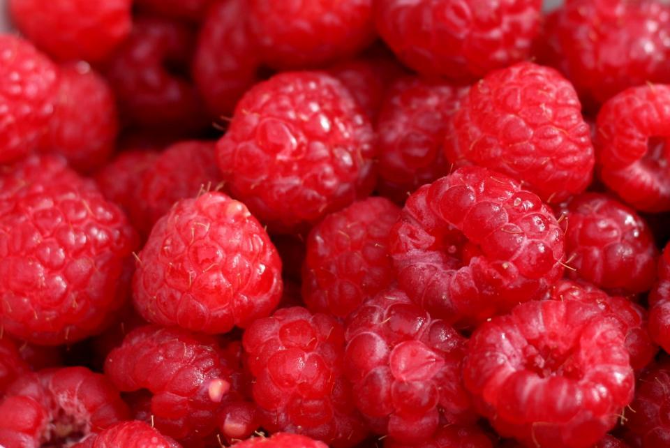 red, raspberries, fruits, food, healthy