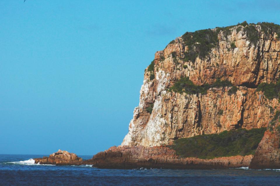 ocean, sea, coast, rocks, cliffs, water, blue, sky, landscape, nature